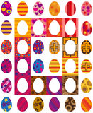 Easter colored eggs Royalty Free Stock Images