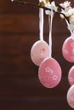 Easter colored eggs. Traditional Easter decoration Royalty Free Stock Photography