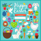 Easter colored icons Royalty Free Stock Photography