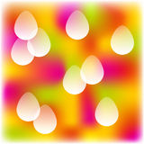 Easter colorful background. Colorful blurred background with transparent easter eggs Royalty Free Illustration