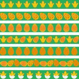 Easter colorful borders Stock Images