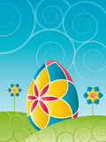 Easter - Colorful easter egg. With flowers Stock Images