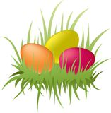 Easter colorful eggs Royalty Free Stock Photos