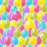 Easter colorful eggs background. Seamless pattern. Vector illustration Royalty Free Stock Photography