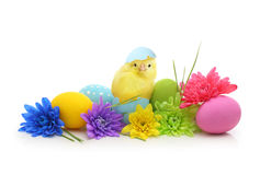 Easter colorful eggs with bunny ears Stock Photography