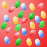 Easter colorful eggs. Collection of colorful easter eggs vector illustration