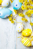 Easter colorful eggs decoration Stock Photos