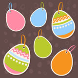 Easter colorful eggs discount sale stickers Royalty Free Stock Images