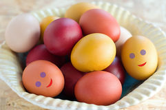 Easter colorful eggs Royalty Free Stock Images