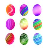 Easter colorful eggs isolated on white background Royalty Free Stock Photo