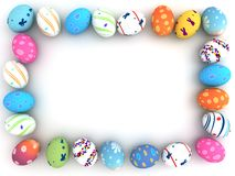 Easter colorful eggs  on white background Stock Photo
