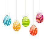 Easter colorful eggs on white background Royalty Free Stock Photos