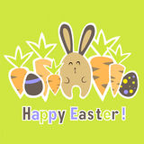 Easter colorful green card template Royalty Free Stock Photos