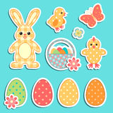 Easter colorful icons Stock Photos
