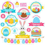 Easter Colorful Labels Set Royalty Free Stock Photos