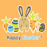 Easter colorful orange card template Royalty Free Stock Photo