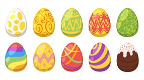 Easter colorful painted eggs. royalty free illustration