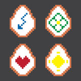 Easter colorful pixel vector eggs. Stock Image