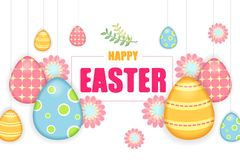 Easter colorful poster royalty free stock photos
