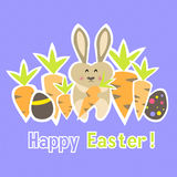Easter colorful purple card template Stock Photos