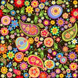 Easter colorful wallpaper with mankolam Stock Images