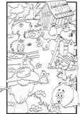 Easter coloring Royalty Free Stock Images