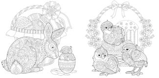 Free Easter Coloring Page Stock Image - 127451751