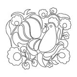 Easter coloring page. Royalty Free Stock Images