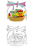 Easter coloring page Royalty Free Stock Photography