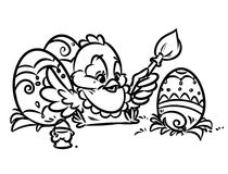 Easter coloring pages Royalty Free Stock Photography