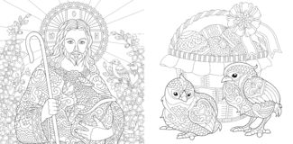 Easter. Coloring Pages. Coloring Book For Adults. Colouring Pictures ...