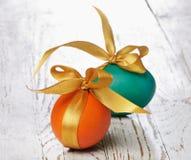 Easter coloriu ovos Fotos de Stock