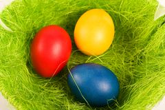 Easter coloriu ovos fotos de stock royalty free
