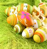 Easter colour eggs Royalty Free Stock Images