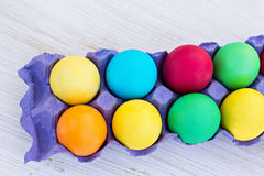 Easter composition. Easter eggs. Easter composition. Easter eggs on the table Royalty Free Stock Photography