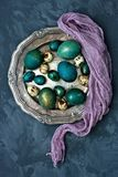 Easter composition with eggs Stock Photos