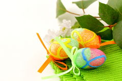 The Easter composition eggs,  green grass Royalty Free Stock Image