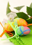 The Easter composition eggs,  green grass Royalty Free Stock Photos