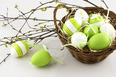 Easter composition with eggs Royalty Free Stock Images