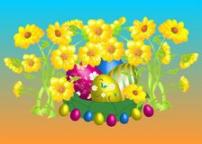 Easter composition with flowers Stock Image