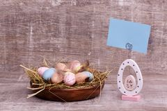 Easter composition. Greeting card royalty free stock images