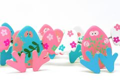 Easter composition with painted stones royalty free stock photography