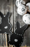 Easter composition with rabbit and eggs Stock Photography
