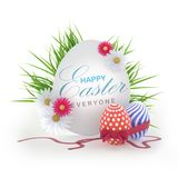 Easter. Composition render 3d models vector illustration