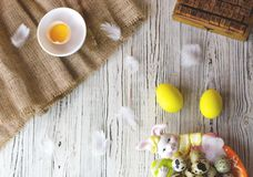 Easter composition in a rustic warm style stock photos