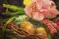 Easter composition textured artistic image Royalty Free Stock Photography