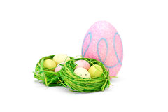 Easter composition on white background Royalty Free Stock Image