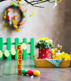 Easter composition. Royalty Free Stock Photos