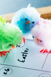 Easter concept on a calendar Royalty Free Stock Image