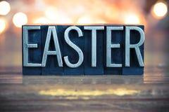 Easter Concept Metal Letterpress Type Stock Image